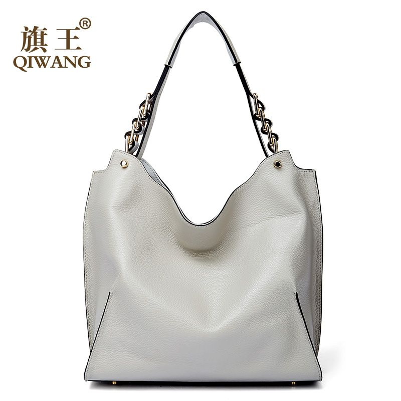 Qiwang Marke echtem leder frauen große schulter tasche weibliche hohe qualität hobos tasche mit quaste frauen handtasche full Grain leder