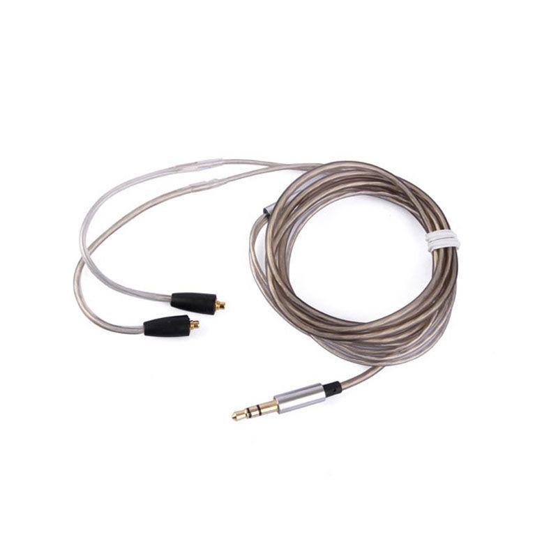 Earmax модернизации Наушники гарнитуры наушники с серебряным покрытием кабель заменить Провода Для Shure se215 SE315 SE425 SE535 SE846 ue900