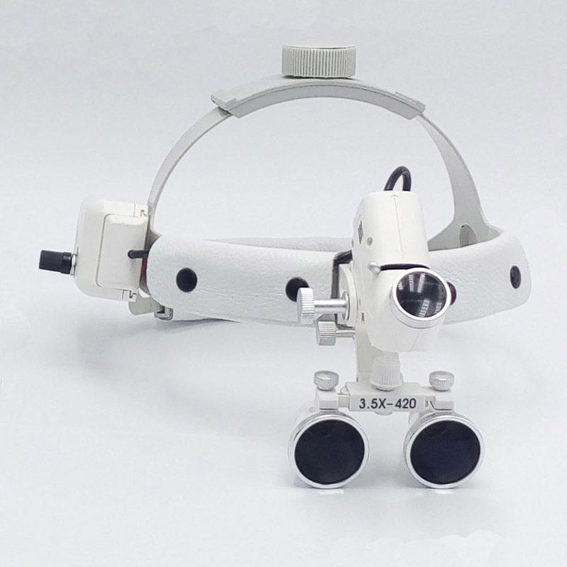 3.5 magnify high intensity led light dental loupe surgeon operation medical enlarger clinical surgical magnifier with headlight