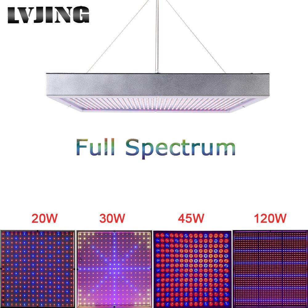 20 w/30 w/45 w/120 w/200 w Haute Puissance lampe Usine AC85 ~ 265 v Full Spectrum LED À Effet de Serre Des Plantes Hydroponiques Fleur Panneau Élèvent La Lumière