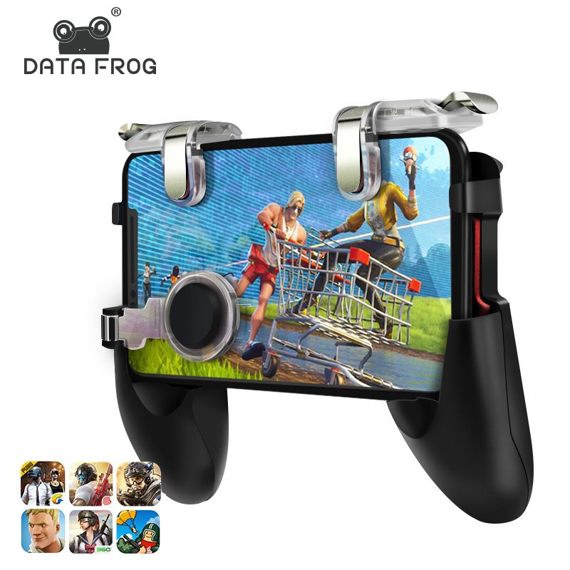 Data Frog For Pubg Game Gamepad For Mobile Phone Game Controller l1r1 Shooter Trigger Fire Button For IPhone For Knives Out