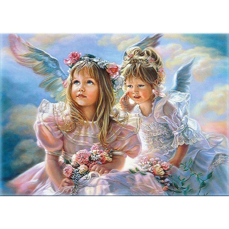 Rahmenlose engel mädchen diy malerei by zahlen abbildung malerei acryl bild kits farbe by zahlen einzigartiges geschenk für wandkunstwerk