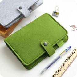 JIANWU A5 A6 simple snap feutre tissu cahier journal creative liant fournitures de bureau reliure à anneaux