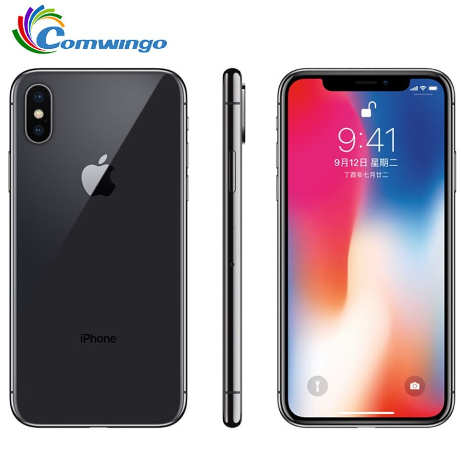 Original Apple iphone X Gesicht ID 3 GB RAM 64 GB/256 GB ROM 5,8 inch 12MP Hexa Core iOS A11 Dual Zurück Kamera 4G LTE iphone x