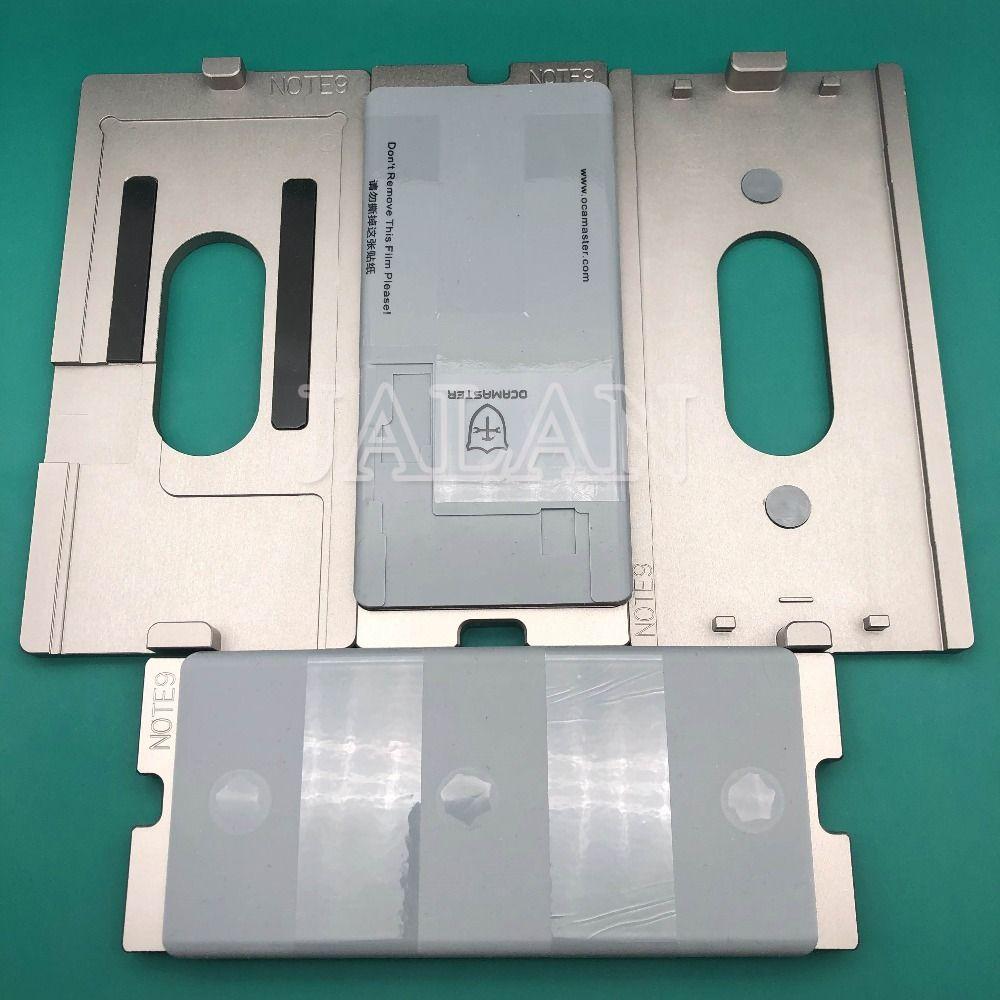 OCAMASTER 4 in 1 mold Für samsung s7 edge/s8/s8 plus/s9/s9 plus/hinweis 8 /hinweis 9 LCD display glas oca ungebogenen flex laminieren