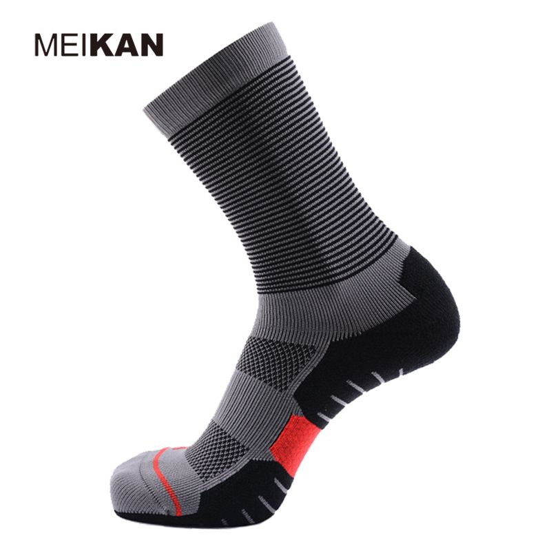 MEIKAN Thickening Professional Running Socks Quick-drying Function Coolmax Stocking Sports Calcetines Ciclismo Cycling Meia