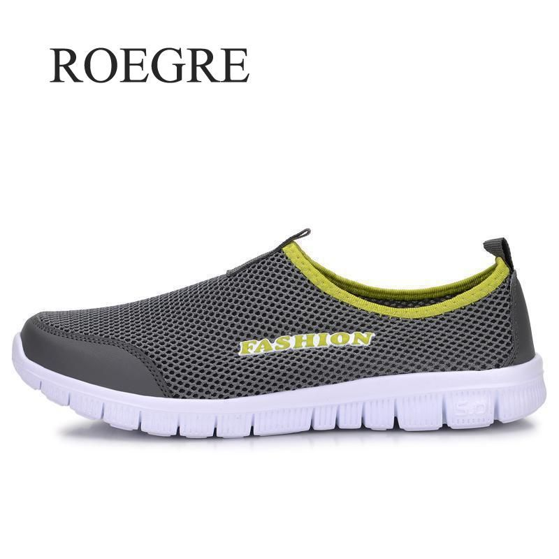 Sneakers Men's Summer Shoes 2019 New Plus Size 35-46 Comfortable Men Casual Shoes Mesh Breathable Loafers Flats Shoes Footwear