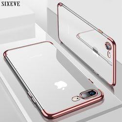 SIXEVE De Silicium Clair Étui Souple pour iPhone X 10 iPhone 6 S 6 s 6 Plus 6 SPlus iPhone 7 8 7 Plus 8 Plus mince Couverture de Téléphone portable boîtier