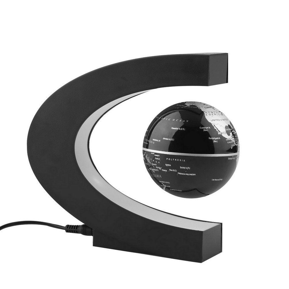 Новое поступление 2017 года 1 шт. Новинка украшения магнитной левитации Плавающий Глобусы мира Географические карты украшения Санта-подарок ...