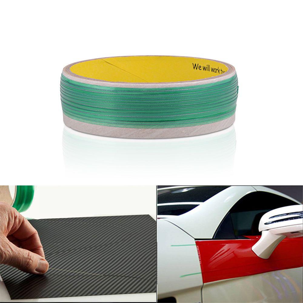 FOSHIO 500 cm Vinyle De Voiture Wrap Sans Couteaux Bande Conception Ligne Autocollants De Voiture Outil De Coupe Vinyle Film D'emballage Cut Bande Auto accessoires
