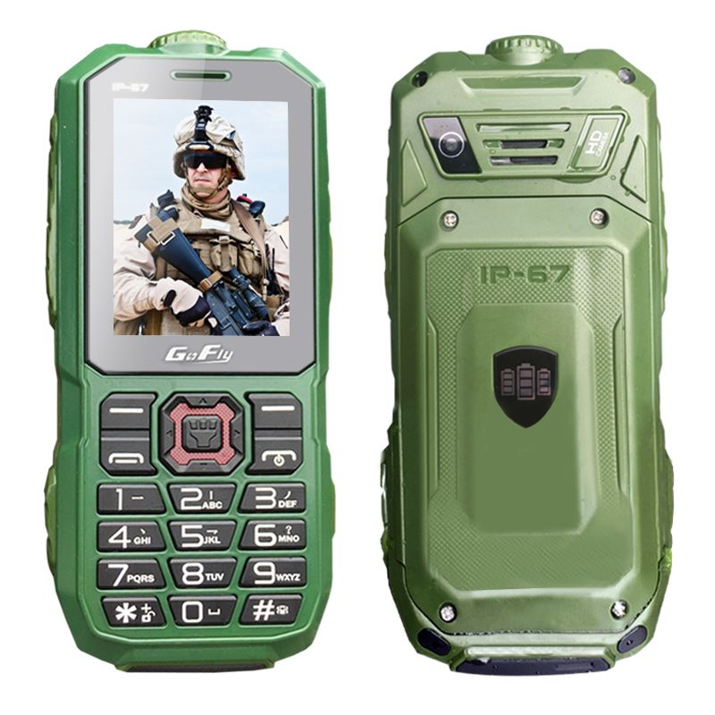 GOFLY A8S Waterproof IP67 long standby cellphone flashlight recorder FM dual SIM dustproof shockproof rugged mobile phone P286