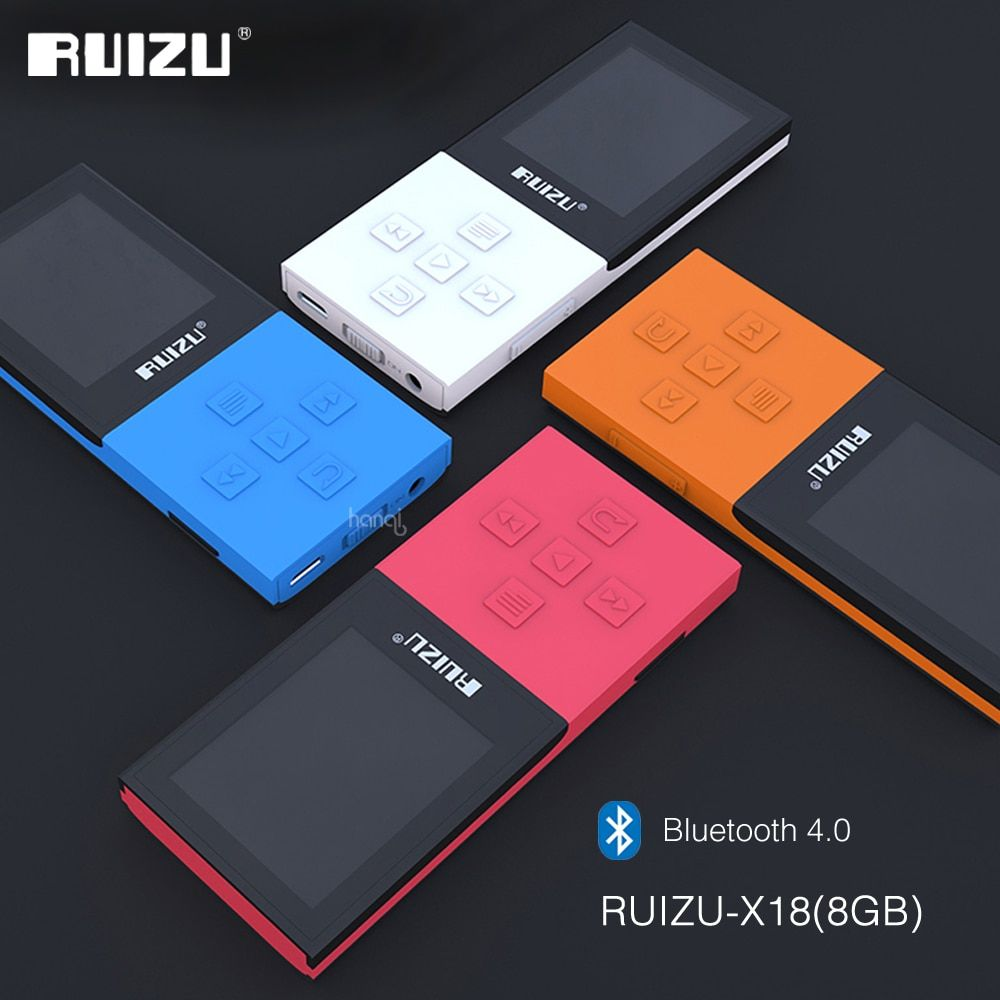 2017 Original RUIZU X18 8g Bluetooth Sport MP3 Player Verlustfreie Recorder FM Radio Bluetooth 4,0 Musik-Player Unterstützung 64g TF Karte