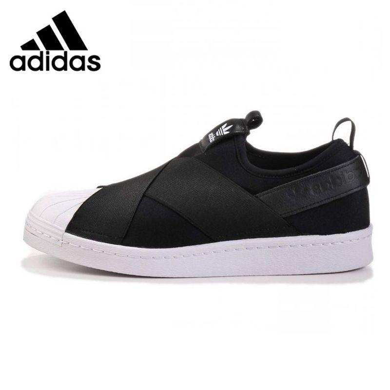 Adidas Superstar Slip Clover Men and Women Walking Shoes, Red / Black / White, Breathable Non-Slip S81340 S81337 S81338