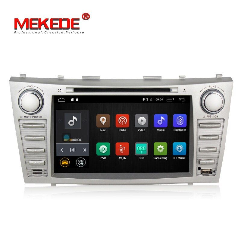 Low price 1024*600 2Din Android7.1 2GB RAM Car DVD For TOYOTA CAMRY AURION v40 2007-11 auto radio with google play