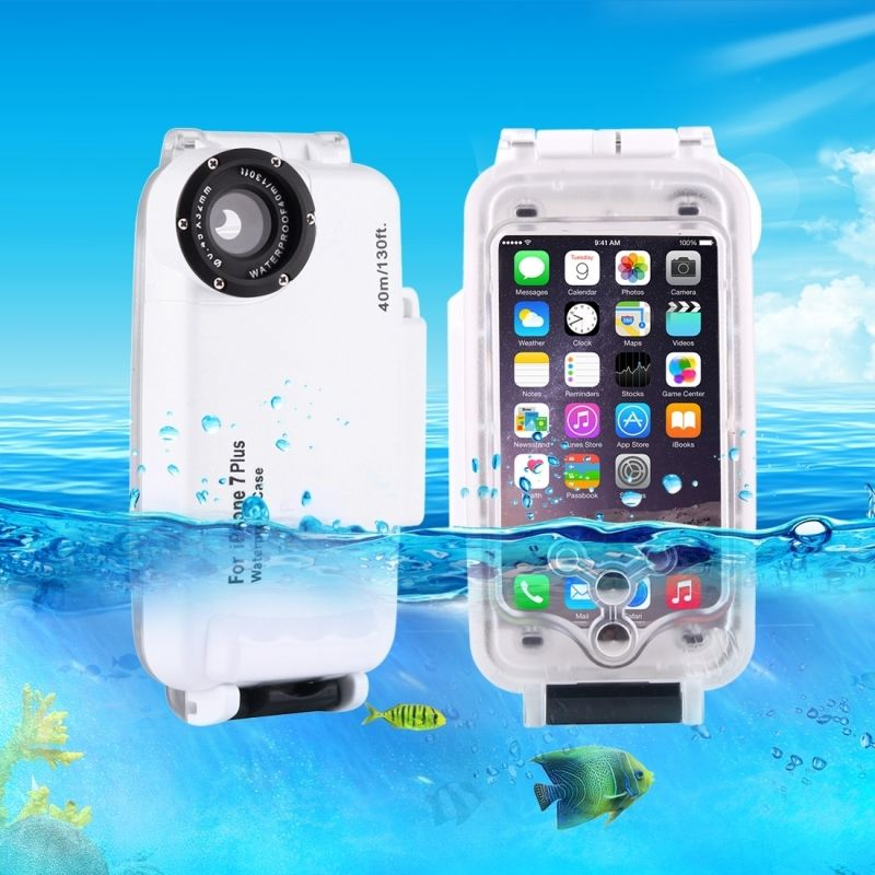 Für iPhone 7 fall wasserdicht 40 mt/130ft Kameragehäuse Foto Unter Wasserdicht Tauche Fall für iPhone 7 funda Coque