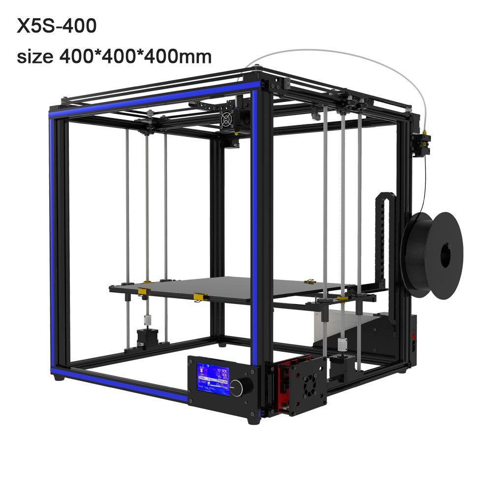 Free Tronxy X5S-400 3D Printer Large size 400*400*400mm heatbed High precision 3d printing