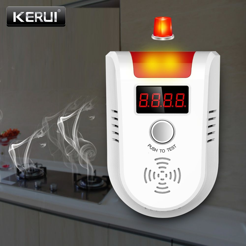 KERUI GD13 LPG GAS Detector Wireless Digital LED Display Combustible Gas Detector For Home Alarm System