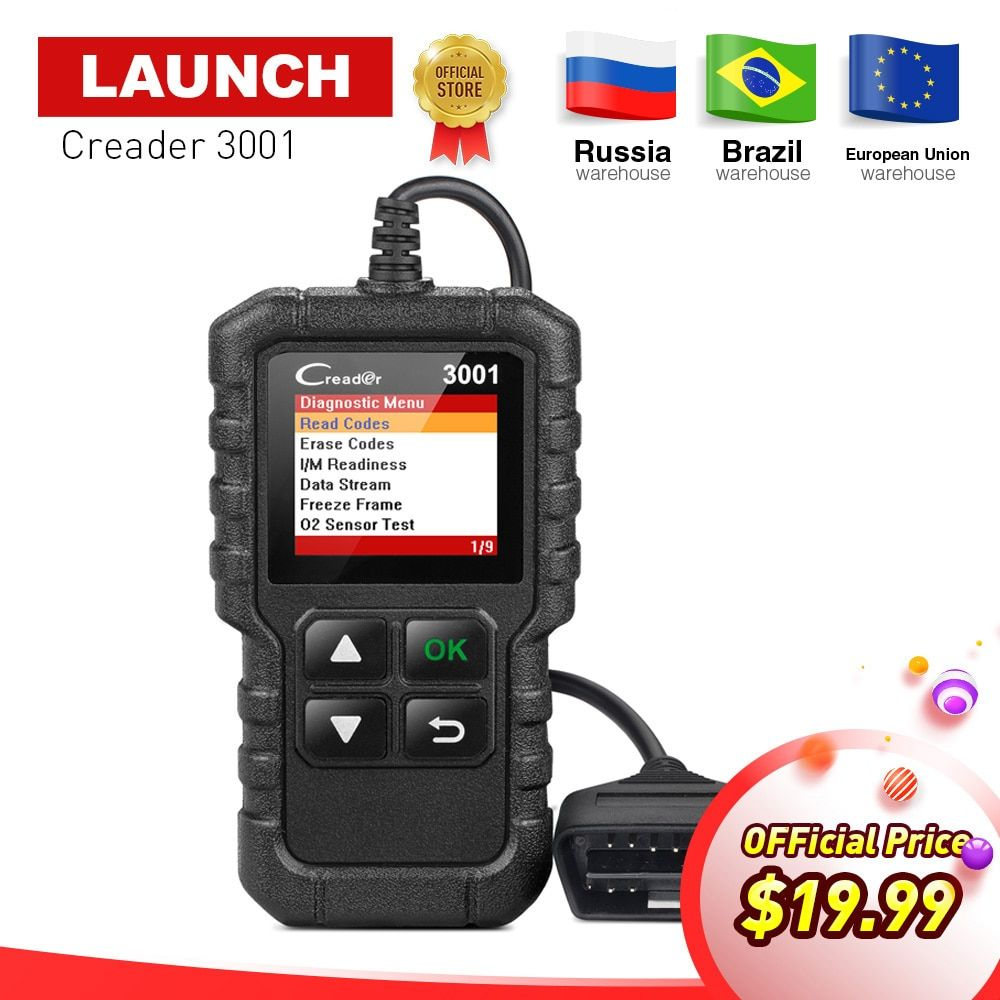 LAUNCH X431 Creader 3001 Full OBD2 OBDII Code <font><b>Reader</b></font> Scan tools OBD 2 CR3001 Car Diagnostic tool PK AD310 NL100 OM123 Scanner