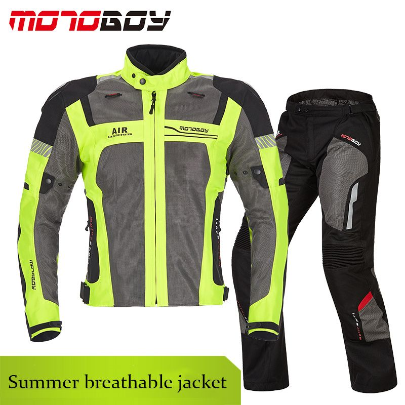 Summer MOTOBOY Motorcycle jackets& pants Motocross Racing Suit Dirt Bike Riding jacket Jersey Protective Gears pants