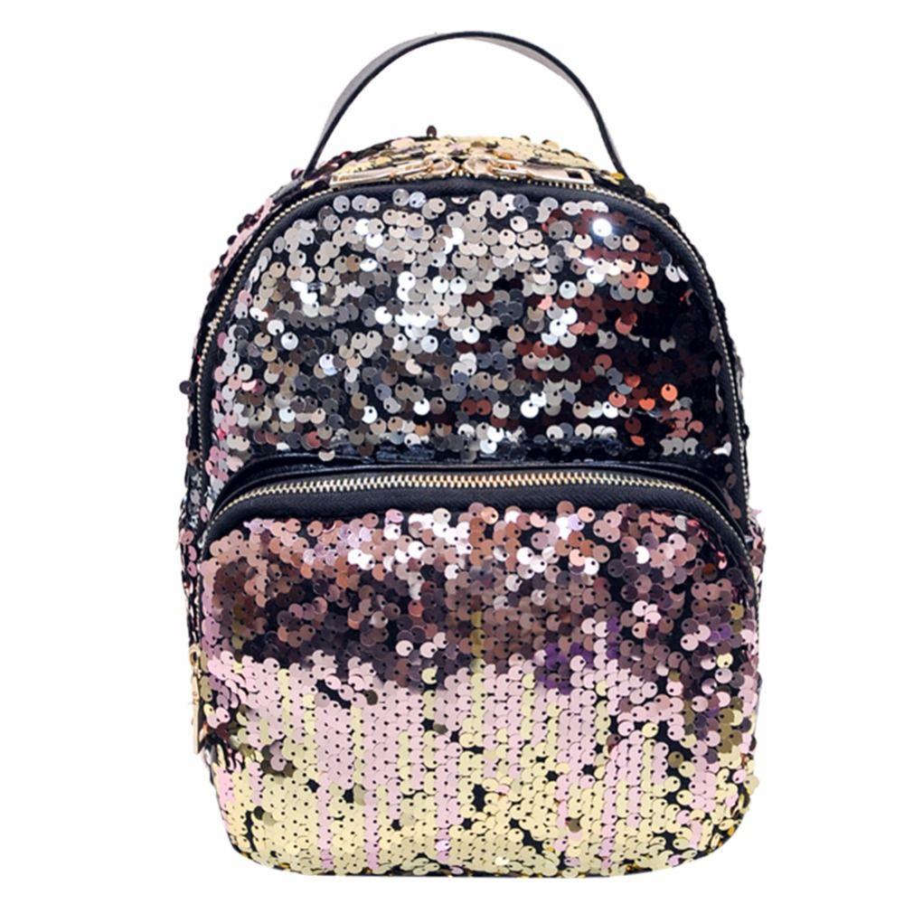 Mini PU+Sequins <font><b>Backpack</b></font> Women School Bags Princess Bling <font><b>Backpack</b></font> Bag All-match Small Travel Sequins <font><b>Backpack</b></font> Mochila Feminina