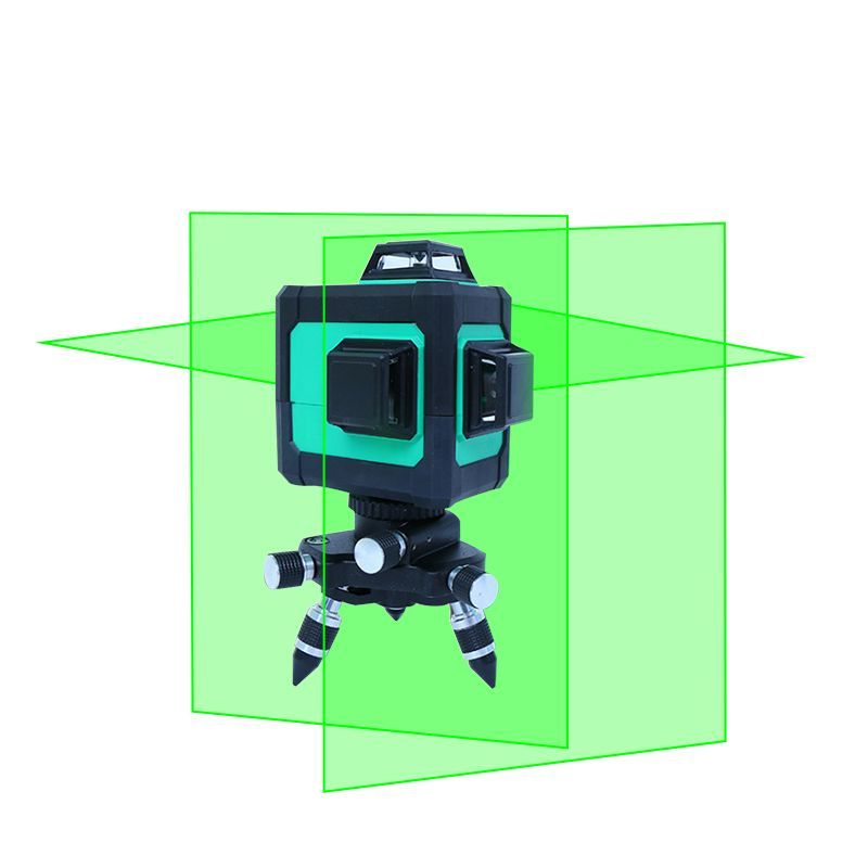 New LND 12 line green laser level 3D wall stickers automatically laser wire throwing instrument level instrument