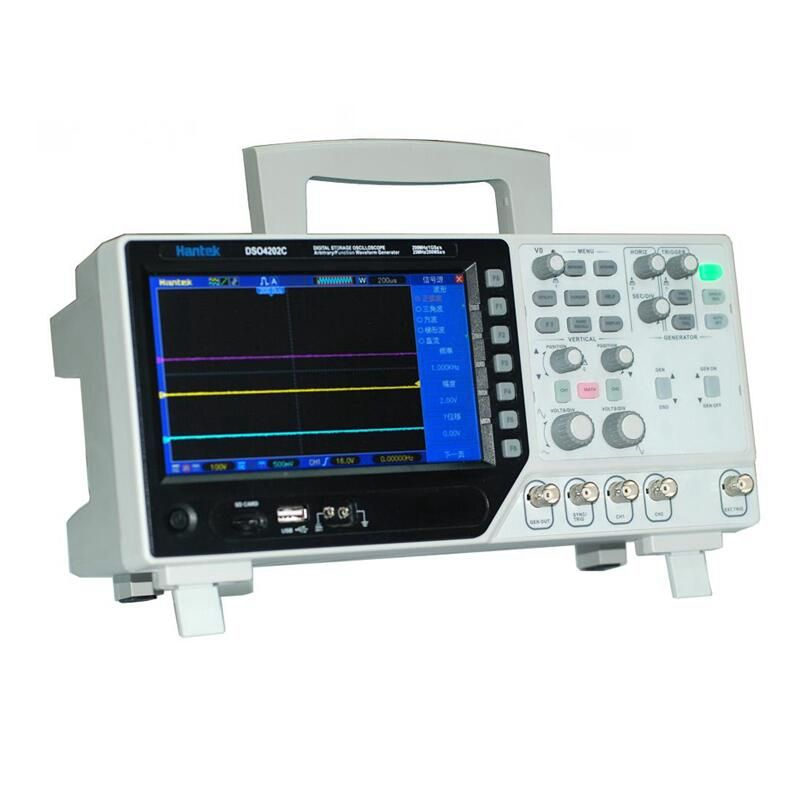 Hantek DSO4202C 2 Channel Digital Oscilloscope 1 Channel Arbitrary/Function Waveform Generator 200MHz 40K 1GS/s 7'' Tft Lcd