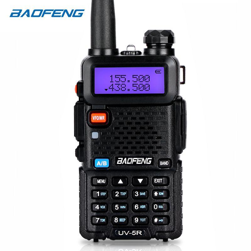 BaoFeng talkie walkie UV-5R deux voies cb radio mise à niveau version baofeng uv5r 128CH 5 W VHF UHF 136-174 mhz et 400-520 Mhz