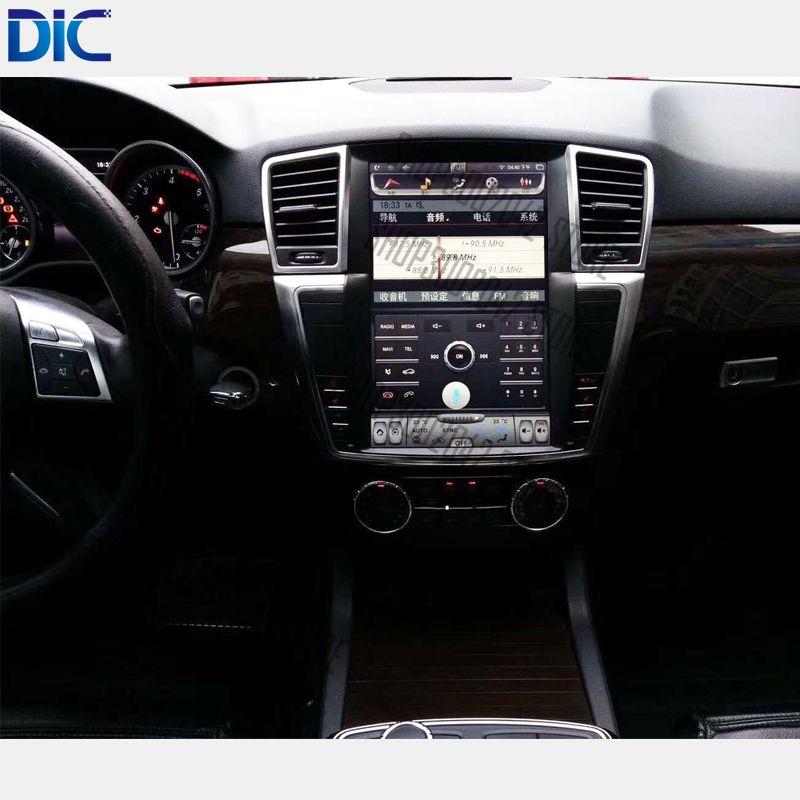 6,0 Android system navigation player vertikale bildschirm lenkrad original control 9 inch 12 inch für Benz ML GL 2012 -2017