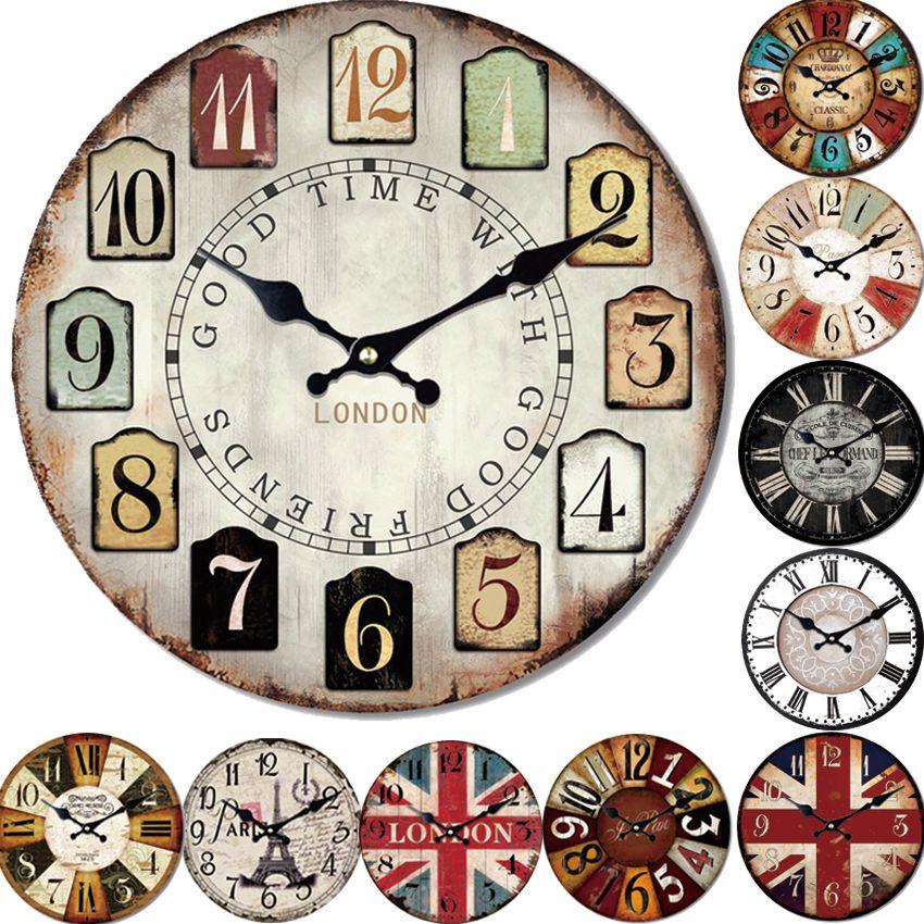 Ten Styles Reloj Large Wall Clock Design Fashion Silent Living Room Wall Decor <font><b>Saat</b></font> Home Decoration Watch Wall Christmas Gift