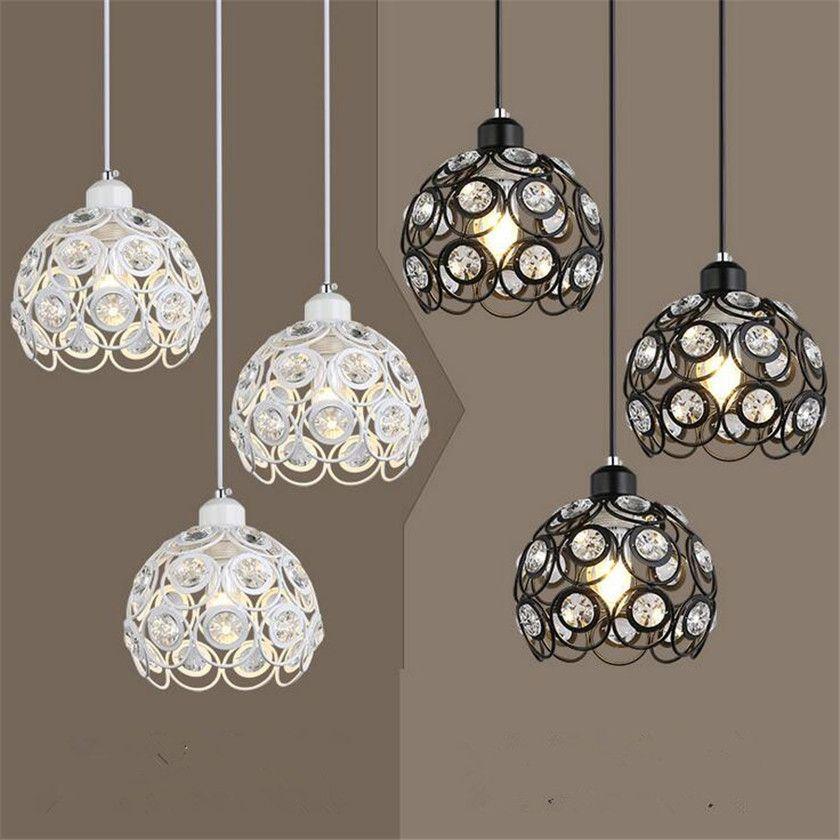 Modern Pendant Lights E27 Hanglamp Loft Suspension Luminaire Crystal Ball Lustres LED Hanglamp for Dinning Room Kitchen Bedroom