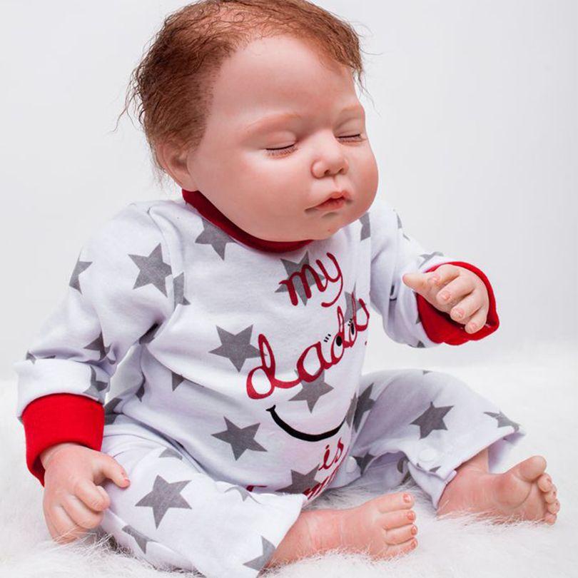 50cm Cotton Body Silicone Reborn Boy Babies Lifelike Doll Children Christmas Gift Girl Brinquedos Bebe Reborn Toy Doll For Girls