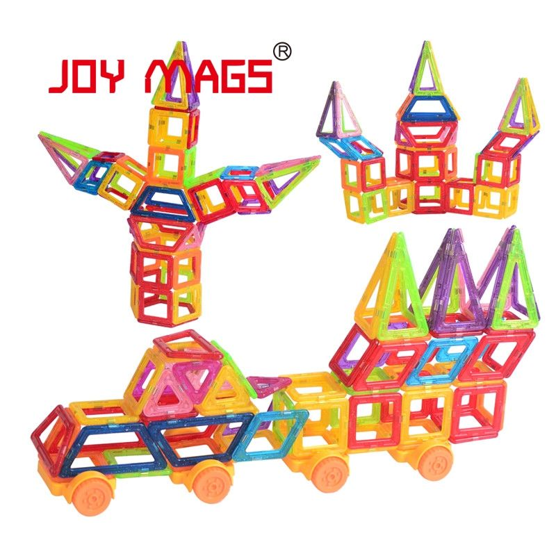 JOY MAGS Toy Mini Magnetic 100/110/130 Pieces/lot Construction Building Blocks Toys DIY 3D Magnetic Designer Educational Bricks