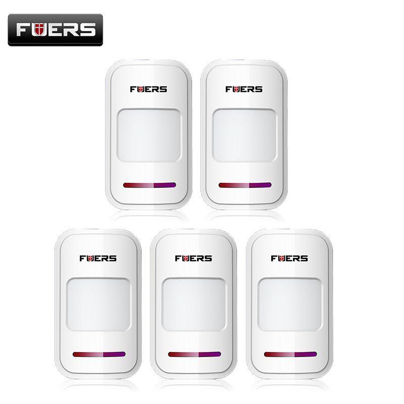 5pcs/Lot Wireless PIR motion sensor detector f touch keypad panel GSM PSTN home house security Burglar voice alarm system