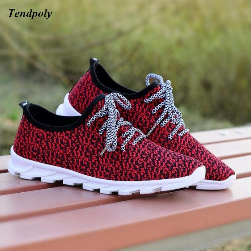 2018 Spring and Autumn selling old <font><b>Beijing</b></font> cloth shoes men's casual shoes low to fly knit blade breathable knit wild men's shoes