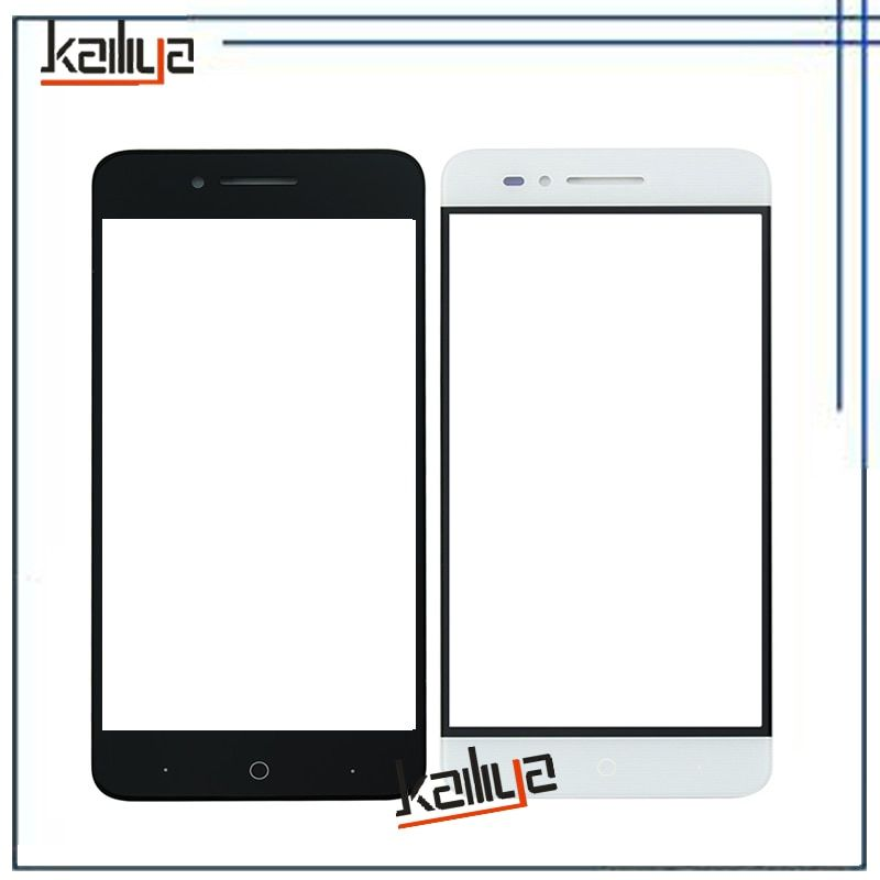 New Touch Screen For ZTE Voyage 4 Blade A610 5.0 inch Black White Front Glass Lens Sensor Replacement Without Flax Cable