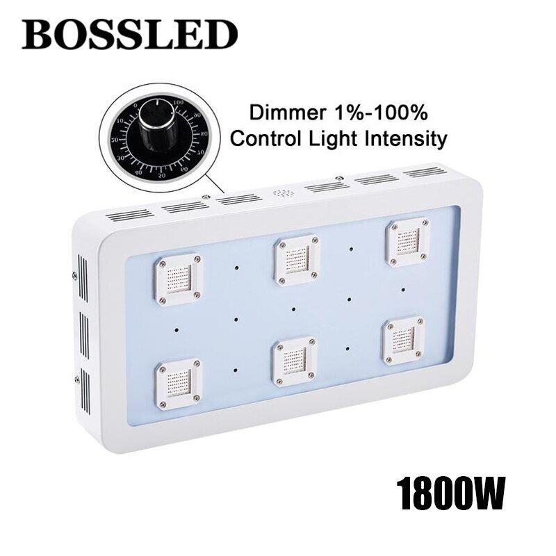 Led grow lamp panel dimmable 1800W X6 Grow light Full Spectrum For indoor Plants vegetable grow house hydroponics led grow light