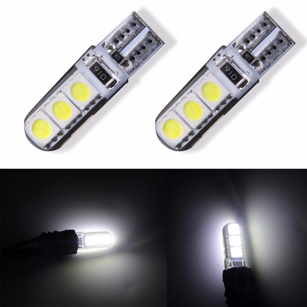 4 Pcs W5W 168 194 SMD T10 LED White Lights Wedge Lumière côté Ampoules Pour Voiture feu arrière Côté Parking Carte Dome Porte lumière