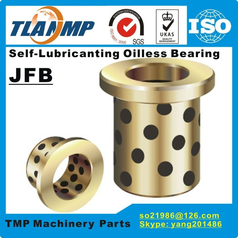 JFB354520 / 3520F (Size:35*45*20/60*5mm) Flanged Solid-Lubricanting Oilless Graphite Brass Bushing|Copper Bearing MPFZ35*45*20