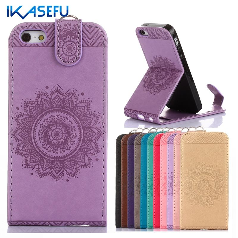 5 S Fundas For Apple iPhone 5 Case Stand Luxury Wallet Leather Silicone Case for Coque iPhone 5 5S Flip Cover SE Capas