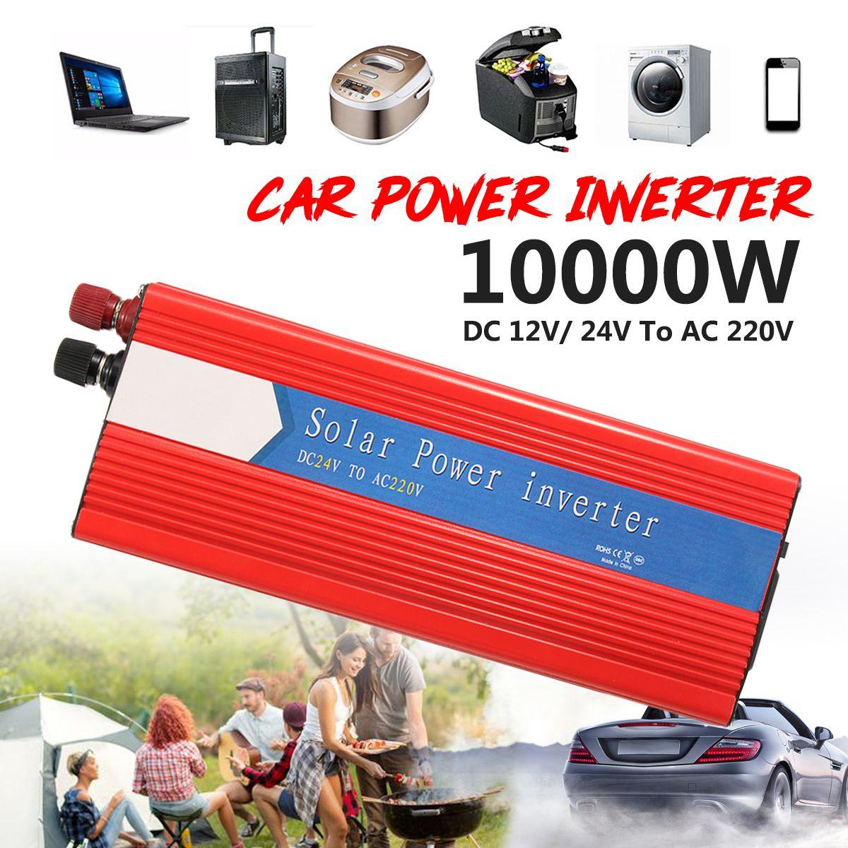 Voltage Transformer PEAK 10000W Car Power Inverter 12/24V To AC 220/110V USB Modified Sine Wave Red Universal Intelligent