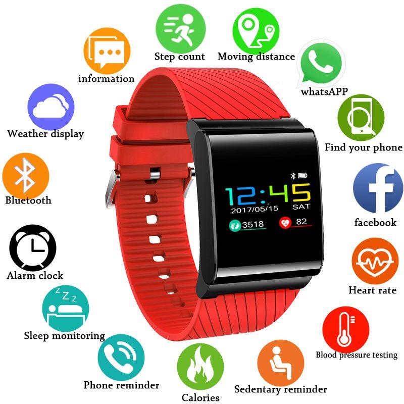 BANGWEI Sport Smart Uhr Frauen Herz Rate Blutdruck Monitor Fitness Tracker LED Farbe Bildschirm Wasserdichte Intelligente Uhr + Box