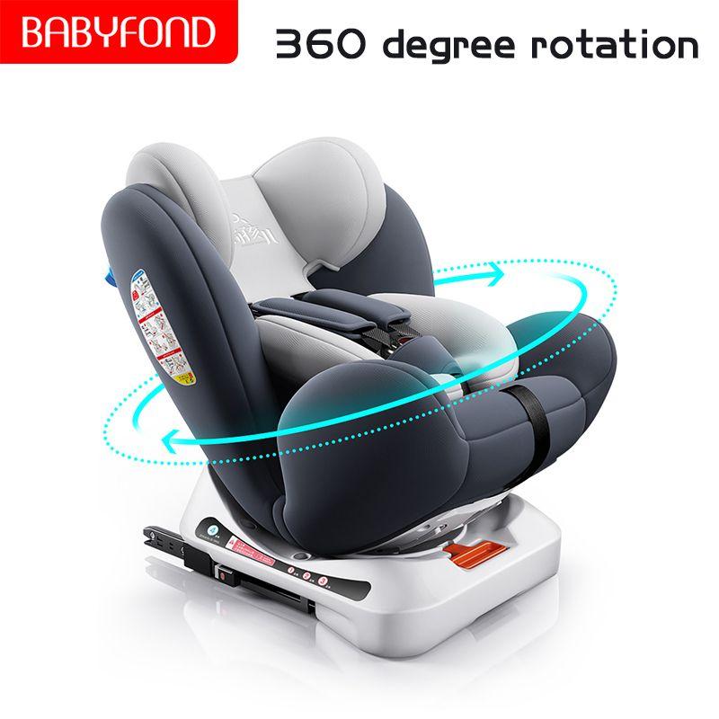 Schnelles verschiffen! Kind auto sitz 0-12 jahre alt baby baby auto tragbare 360 grad rotierenden sitz isofix-schnittstelle