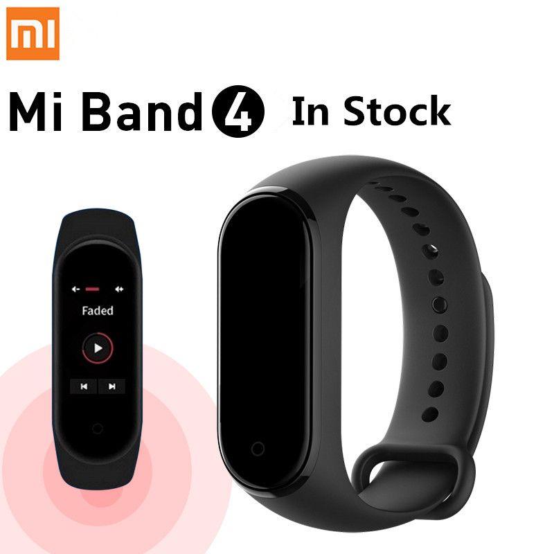Original Xiao mi bande 4 Smart Bracelet couleur écran fréquence cardiaque Fitness 135mAh Bluetooth 5.0 50M natation mi ng Bracelet étanche