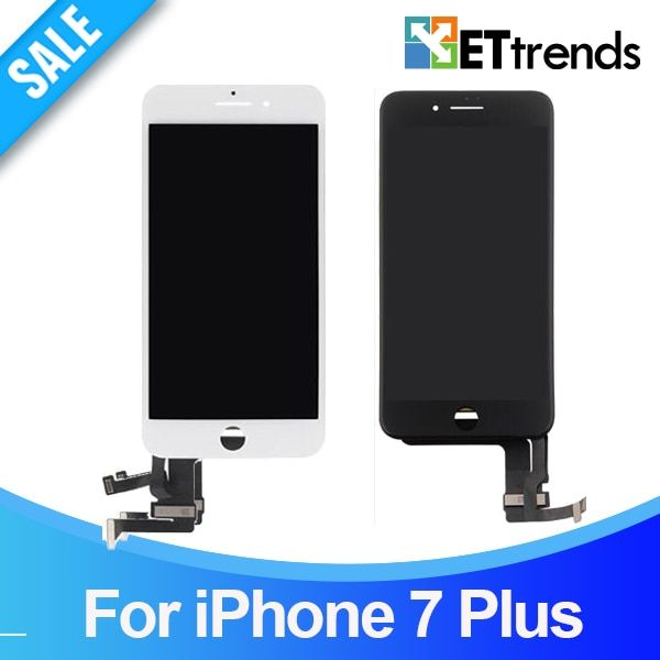 20pcs/lot High Quality AAA No Dead Pixel LCD For iPhone 7 Plus LCD Screen Touch Digitizer Assembly Tested One by One DHL Free