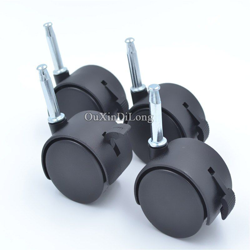 4PCS/Lot Universal Rotation Casters Wheels With Brake for Office Chairs Child/Baby Bed Carts Trolley Furniture Casters Wheels