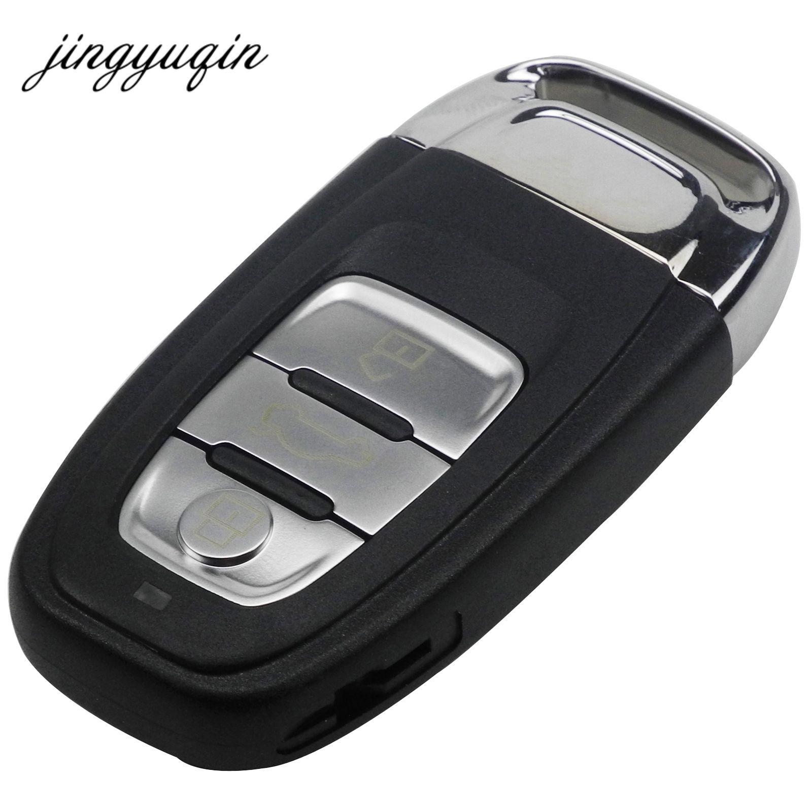 3 кнопки Smart Remote Оболочки + вставить небольшой Болванки для ключей для Audi A4L A6L A5 Q5 RS5 Q5 Quattro случае ключ без логотипа