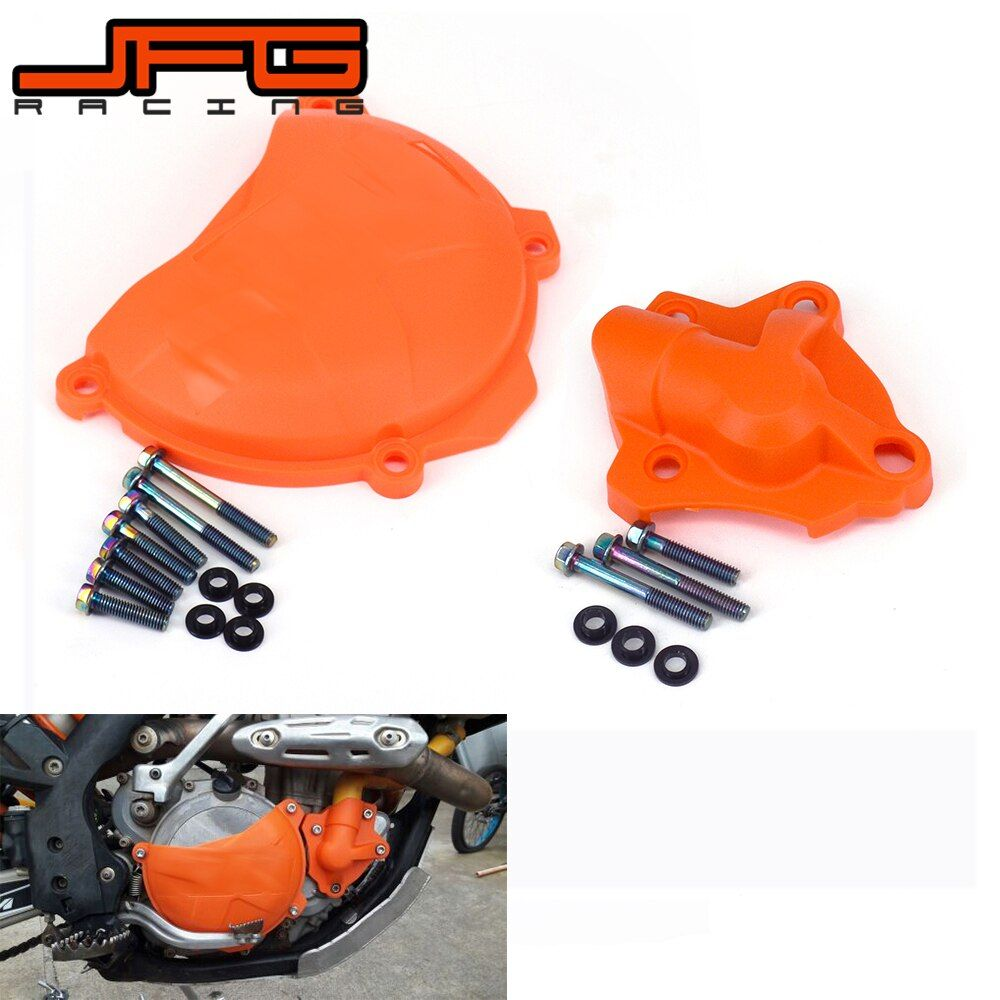 Plastic Clutch Guard Water Pump Cover Protector For KTM SXF EXCF XCF XCFW SX-F EXC-F XC-F XCF-W 250 FREERIDE 350 2014 2015