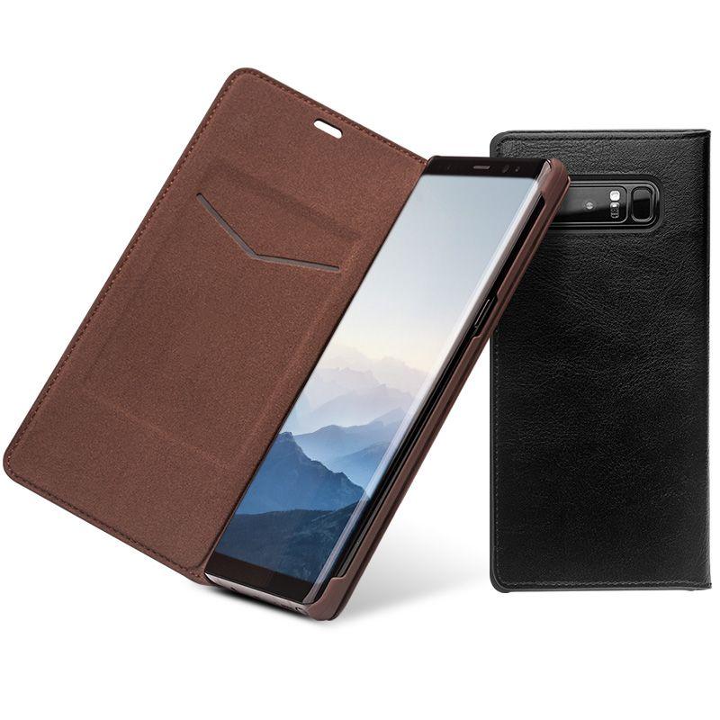 QIALINO Fashion Echtes Leder-abdeckung Fall für Samsung Galaxy Note 8 Luxus Ultradünne Kartensteckplatz für samsung-anmerkung 8 6,3-zoll
