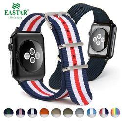 Eastar Tecido Banda Nylon Relógio de Pulseira Para Apple 3 42mm 38mm tecido-como cinta iwatch 3/ 2/1 wrist band pulseira de nylon cinto