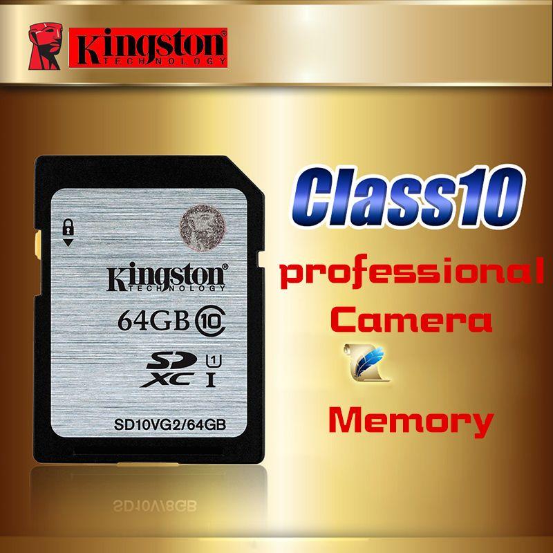 Kingston Memory Card 64GB class10 High Speed Sd Card SDXC 64g cartao de Memoria carte sd tarjeta UHS-I For HD video Sport Camera